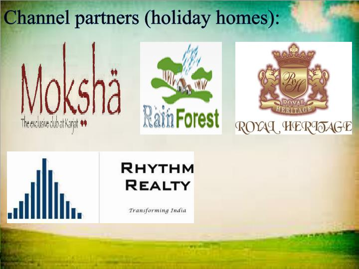 Channel partners (holiday homes):