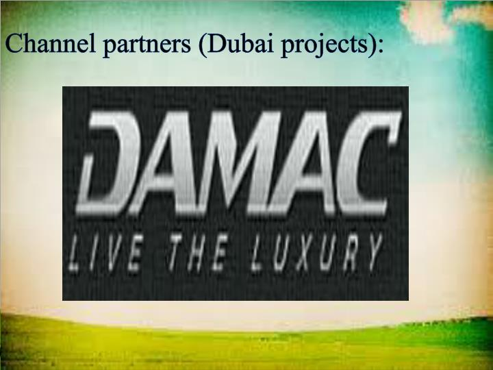 Channel partners (Dubai projects):