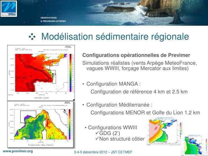 Modélisation sédimentaire régionale