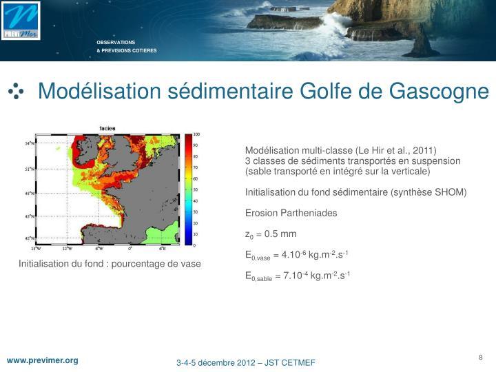 Modélisation sédimentaire Golfe de Gascogne
