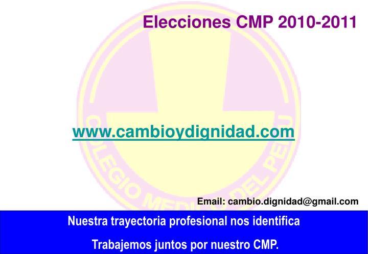 Elecciones CMP 2010-2011