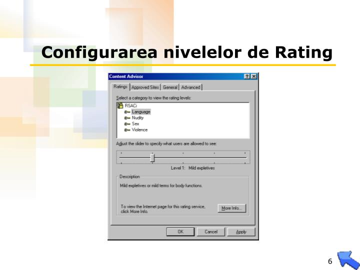 Configurarea nivelelor de Rating