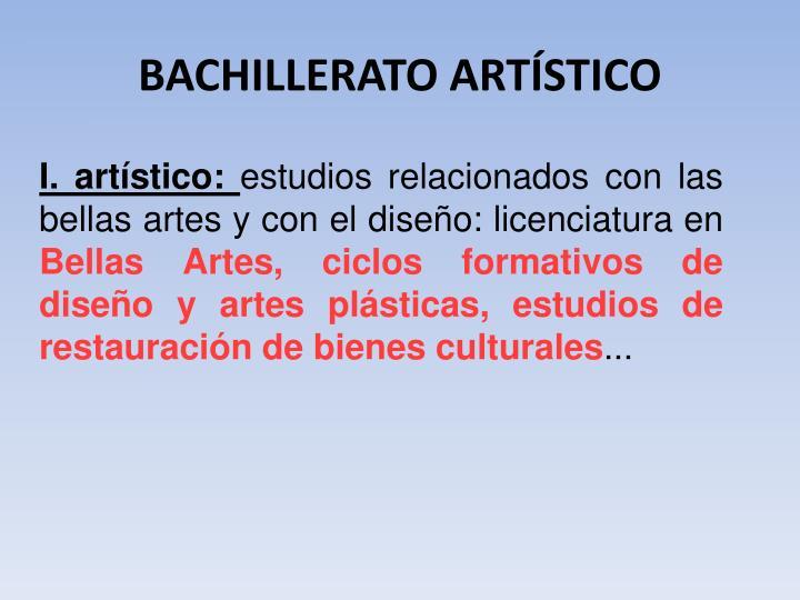 BACHILLERATO ARTÍSTICO