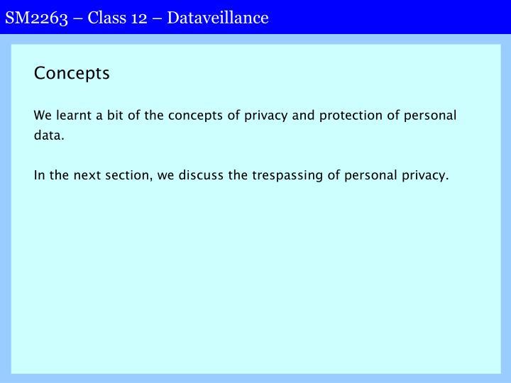 SM2263 – Class 12 – Dataveillance