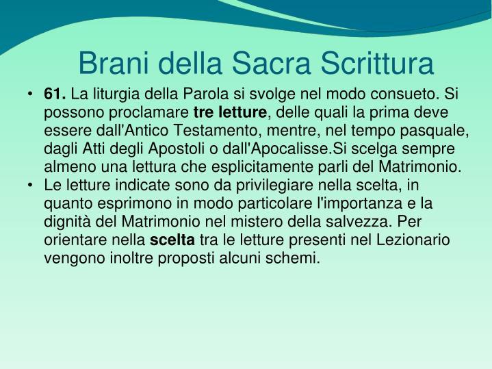 Brani della Sacra Scrittura
