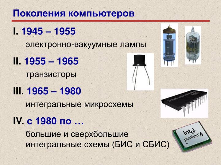 Поколения компьютеров