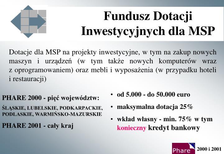 Fundusz Dotacji Inwestycyjnych dla MSP