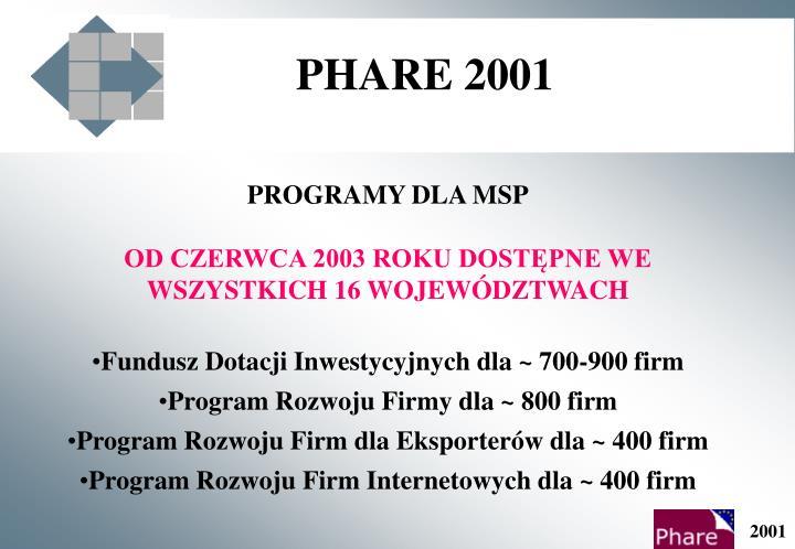 PHARE 2001