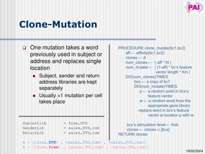 Clone-Mutation