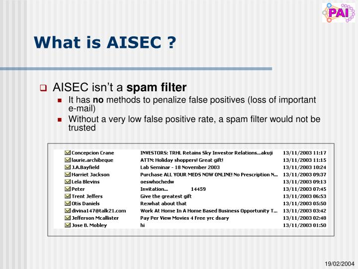 What is AISEC ?