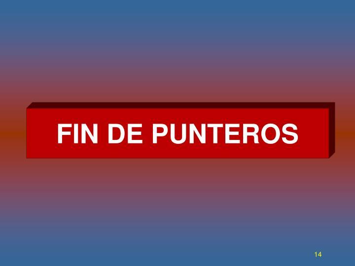 FIN DE PUNTEROS