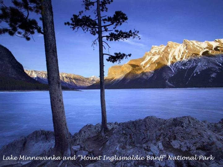 "Lake Minnewanka and ""Mount Inglismaldie Banff"" National Park"