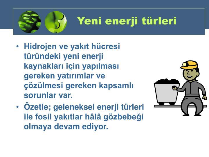 Yeni enerji türleri