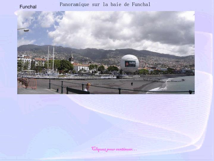 Panoramique sur la baie de Funchal