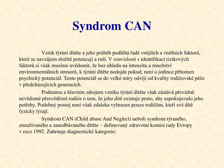 Syndrom CAN