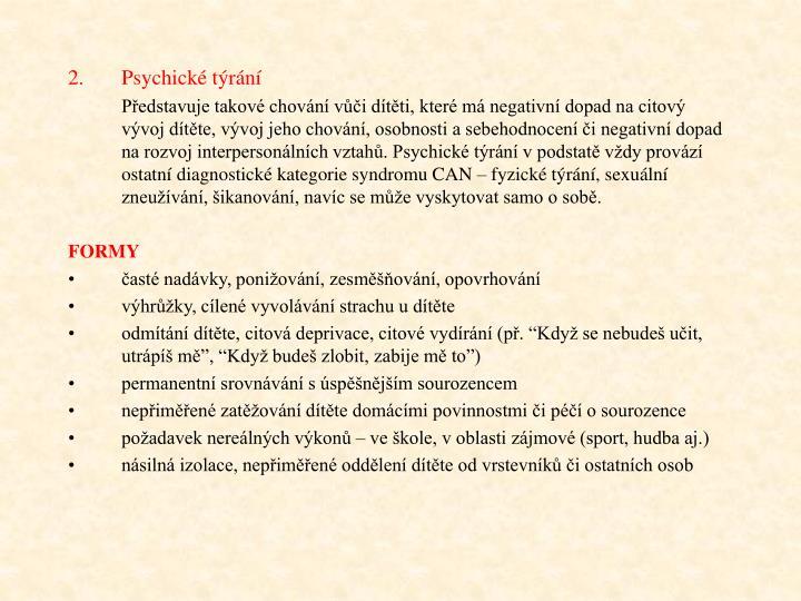 Psychick trn