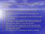 possible environmental changes for noon solution