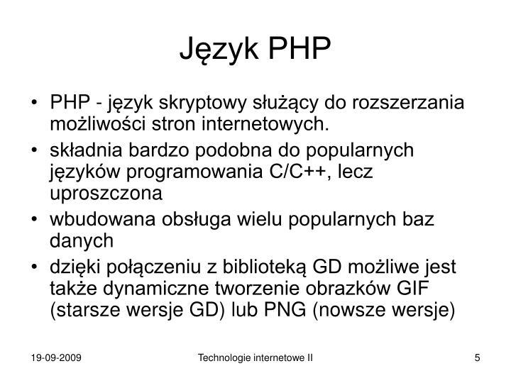 Język PHP