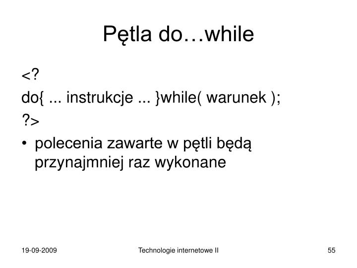 Pętla do…while