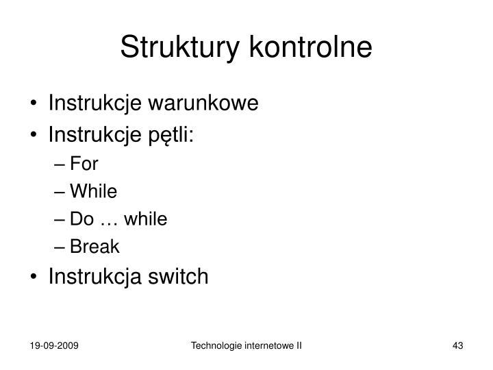 Struktury kontrolne