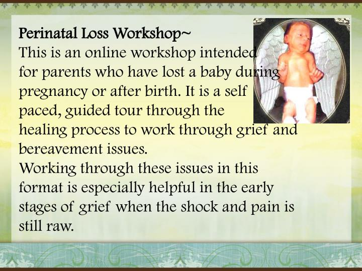Perinatal Loss Workshop~