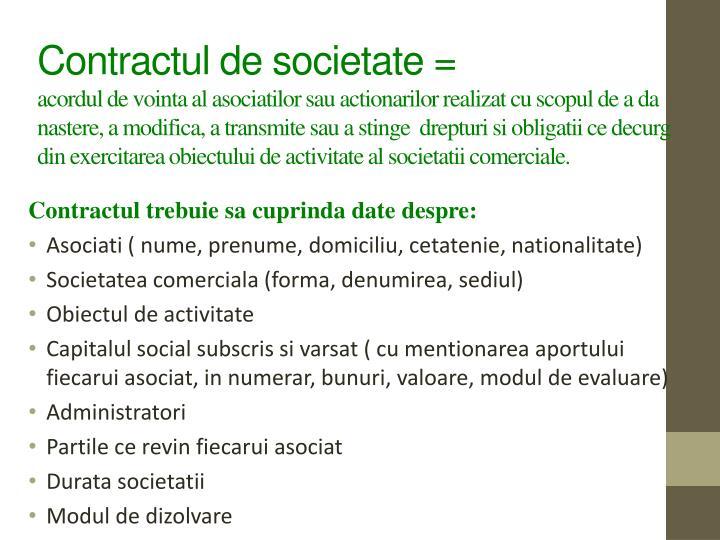 Contractul