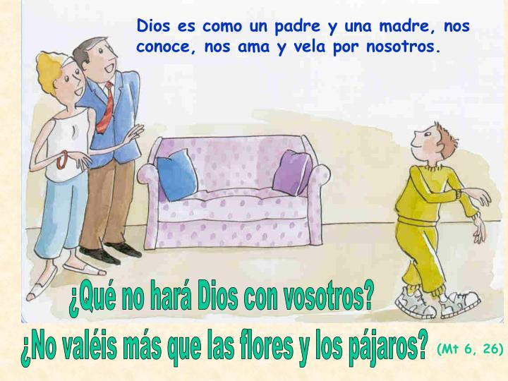 Dios es como un padre y una madre, nos conoce, nos ama y vela por nosotros.
