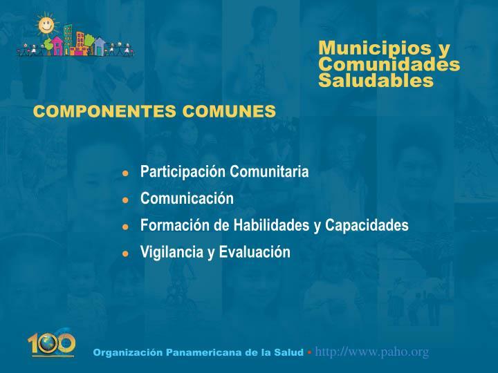 COMPONENTES COMUNES