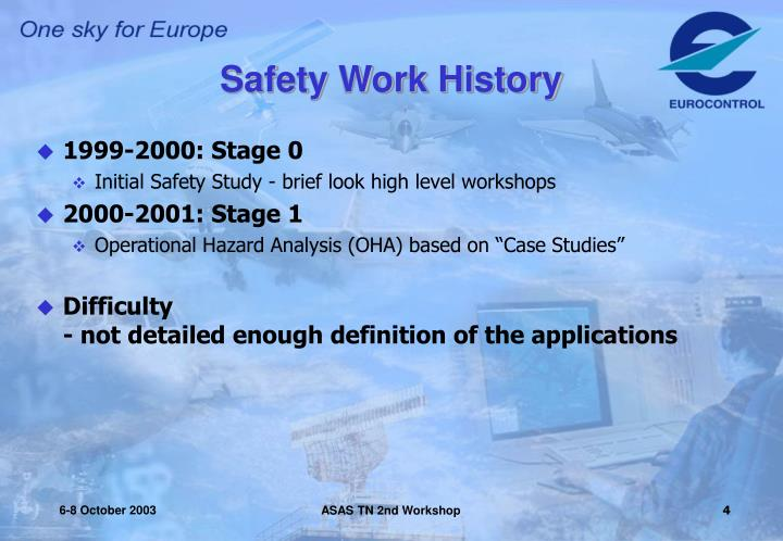 Safety Work History