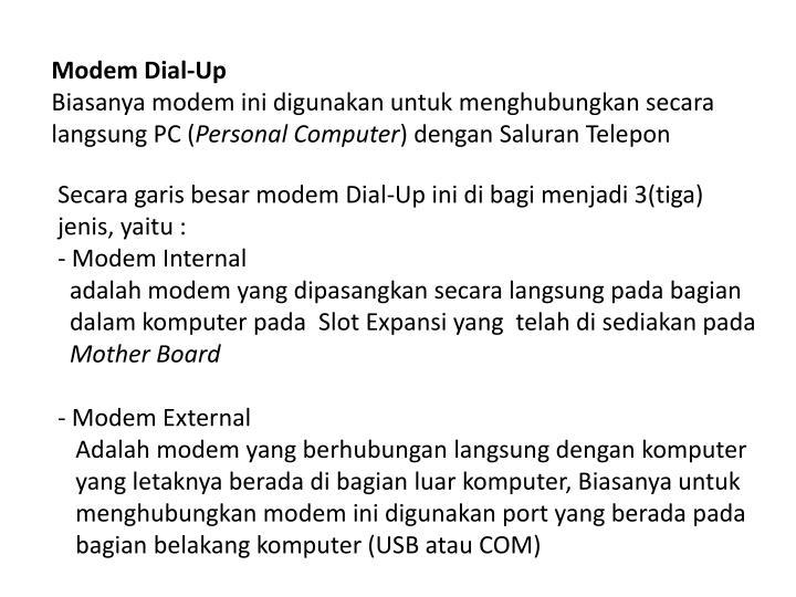 Modem Dial-Up