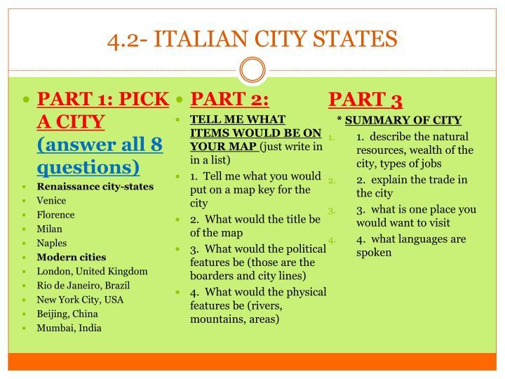 4.2- ITALIAN CITY STATES