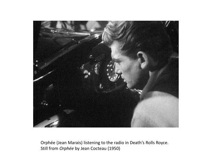 Orphée (Jean Marais) listening to the radio in Death