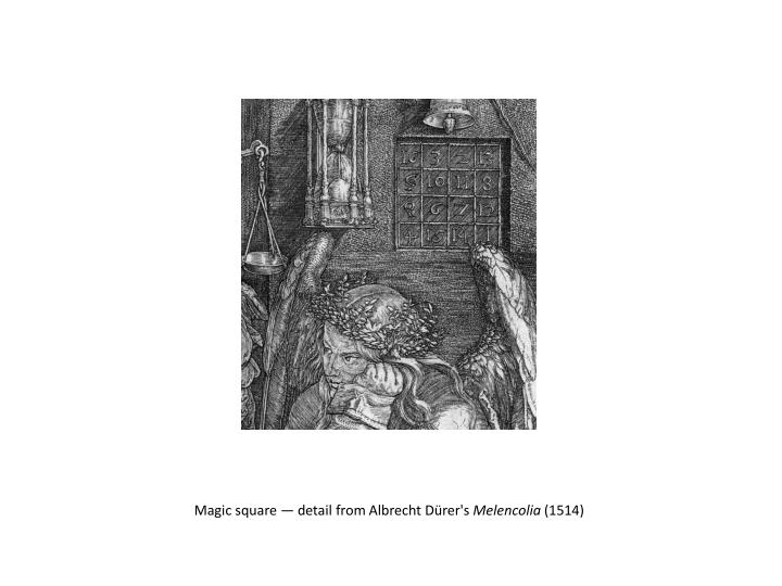 Magic square — detail from Albrecht Dürer's