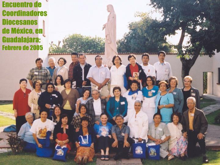 Encuentro de  Coordinadores Diocesanos