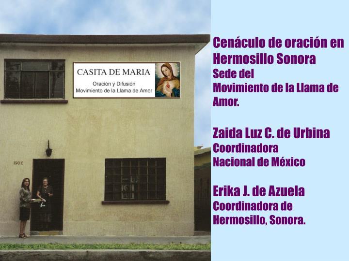 Cenáculo de oración en Hermosillo Sonora
