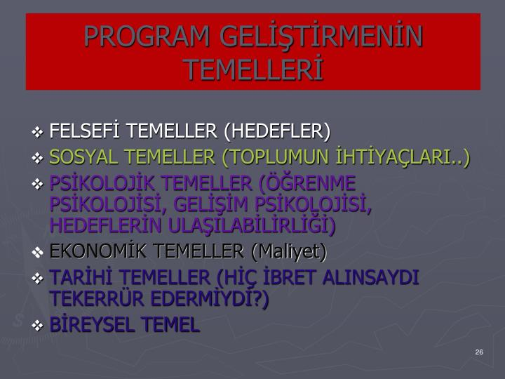 PROGRAM GELTRMENN TEMELLER