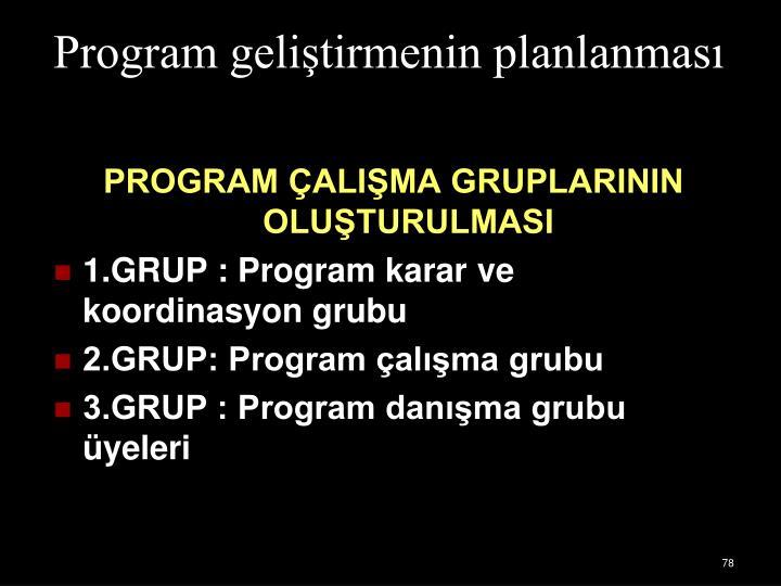 Program gelitirmenin planlanmas