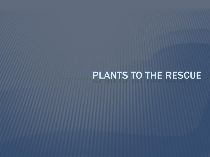 Plants to the rescue