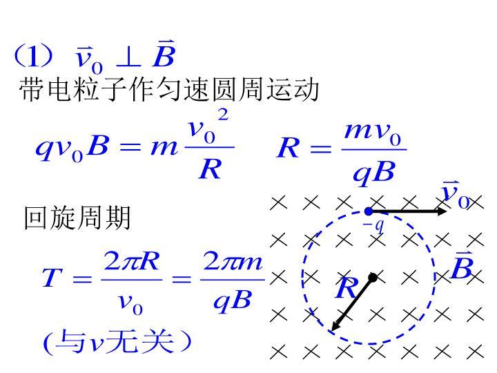 带电粒子作匀速圆周运动