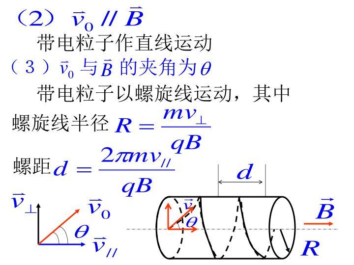 带电粒子作直线运动