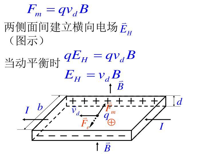 两侧面间建立横向电场  (图示)