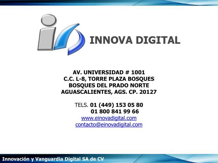 AV. UNIVERSIDAD # 1001