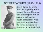 wilfred owen war poems