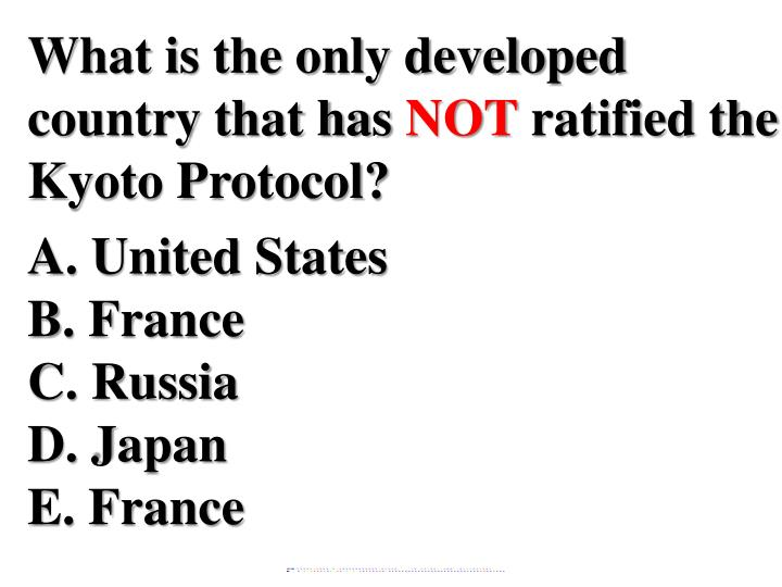 What is the only developed country that has