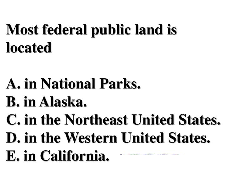 Most federal public land is located
