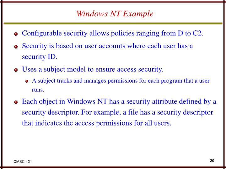 Windows NT Example