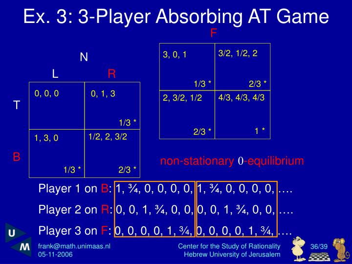 Ex. 3: 3-Player Absorbing AT Game
