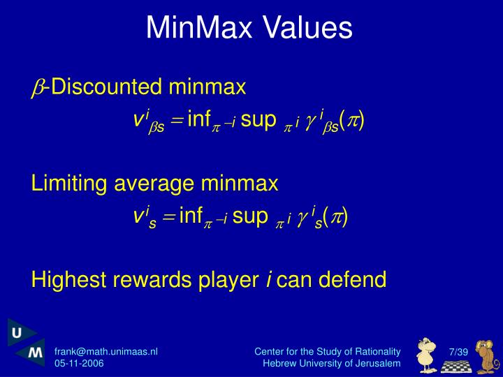 MinMax Values