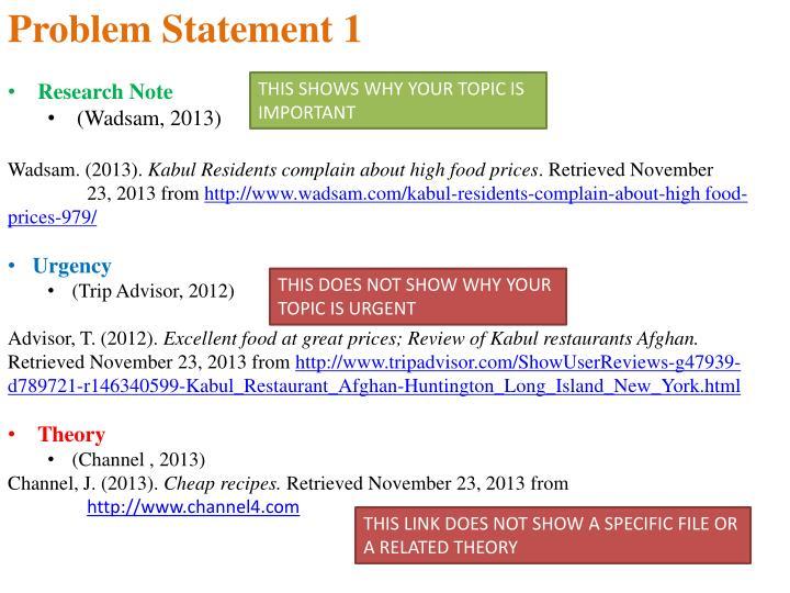 Problem Statement 1