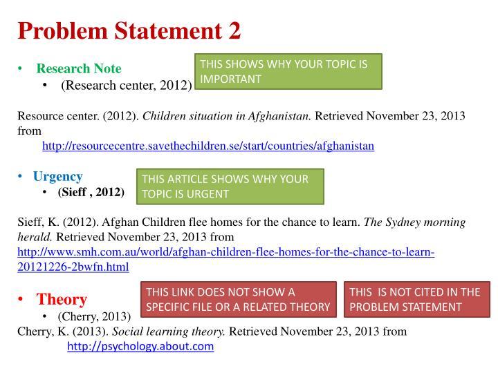Problem Statement 2